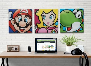 Mario Brothers Canvas Art