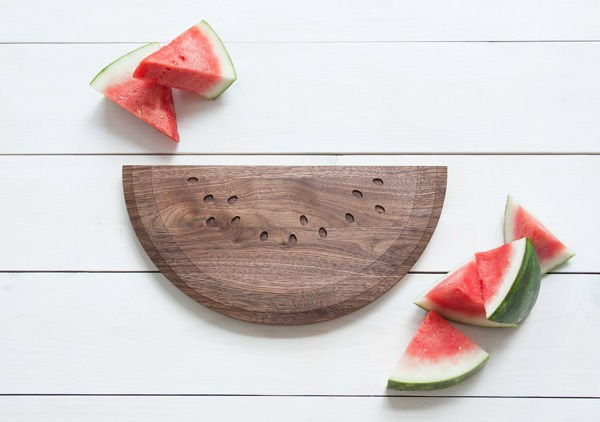Watermelon Shaped Walnut Cutting Board