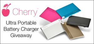 Cherry Portable Charger Giveaway
