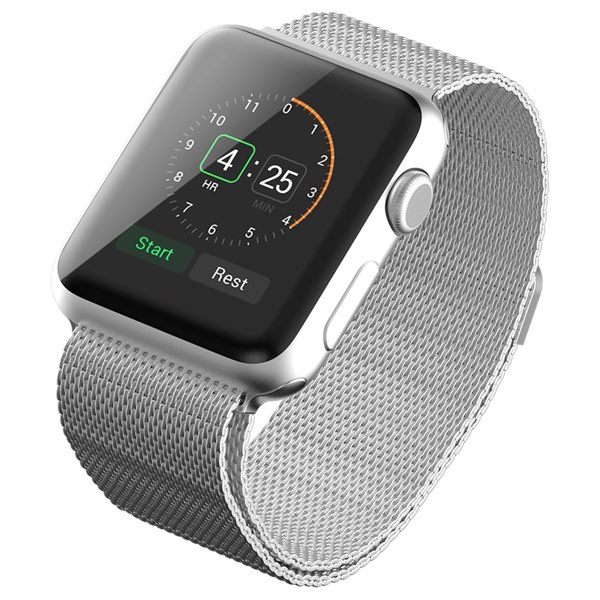 Apple Watch Band, with Unique Magnet Lock, JETech® 42mm Milanese Loop Stainless Steel Bracelet Strap