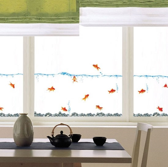 Gold Fish Wall Decal Sticker
