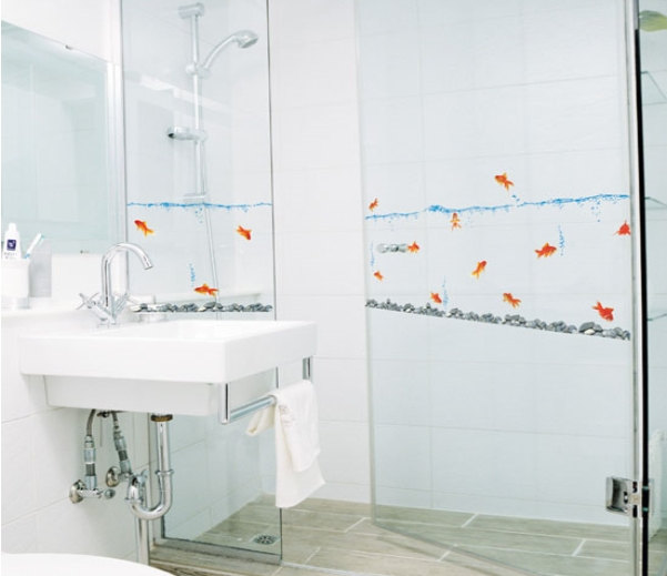 Gold Fish Wall Decal Sticker_