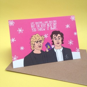 Wham Inspired Christmas Card