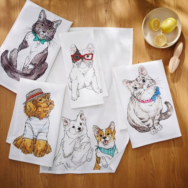 ASPCA Animal Tea Towels