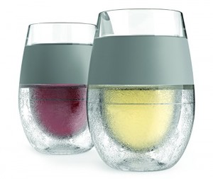 Freeze Cooling Wine Glass Set of 2 by HOST
