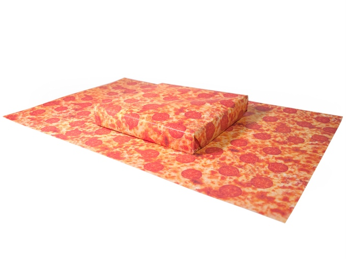 Gift Couture Pizza Wrapping Paper_