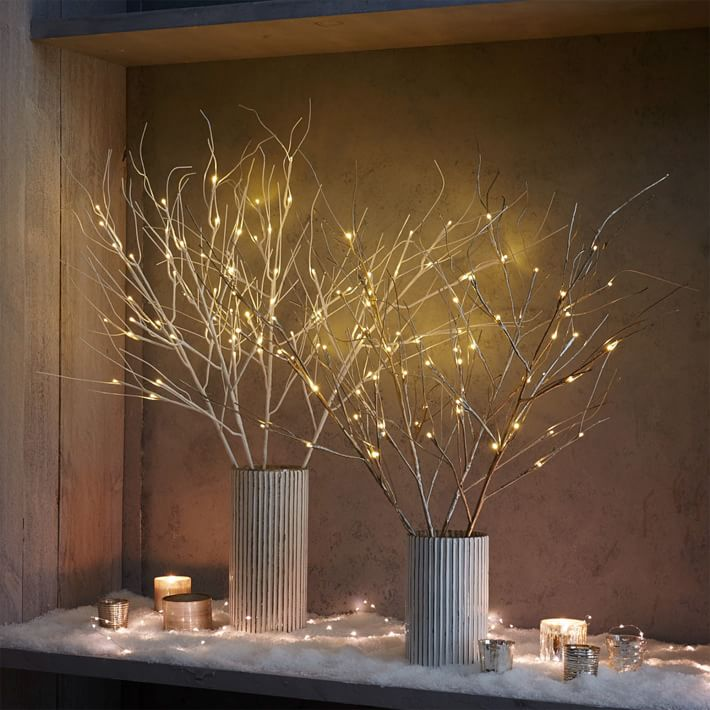Led branches holiday decoration for Decoration lit