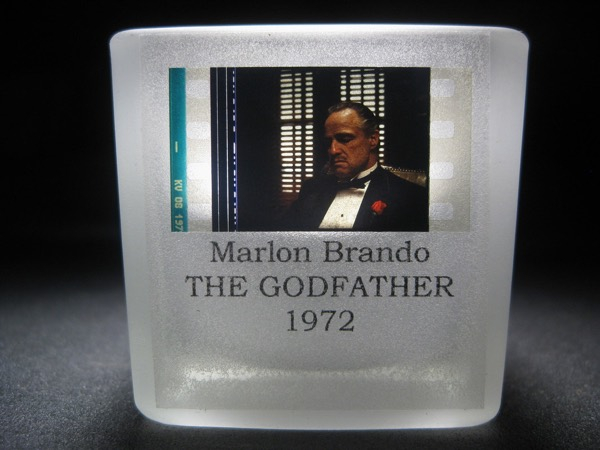 Marlon Brando - The Godfather - Film Cell - Glass Votive