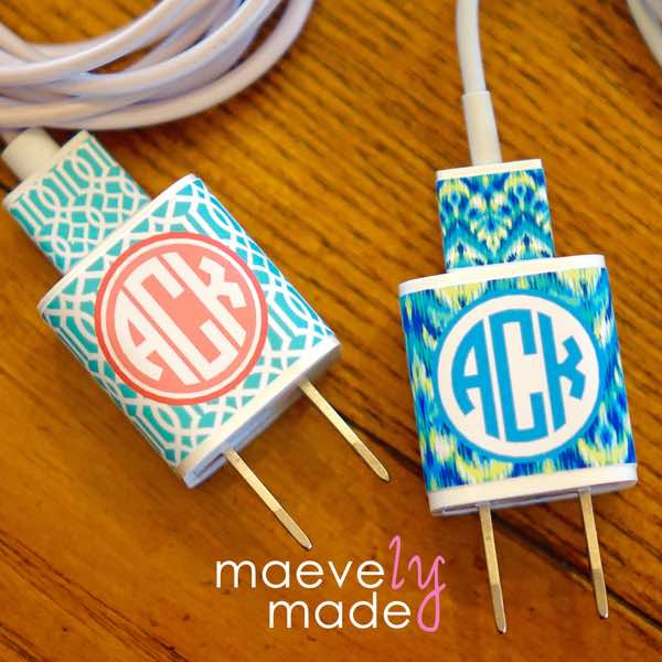 Personalized iPhone Charger Wrap