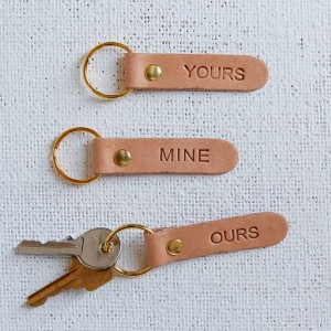 Yours, Mine, Ours Leather Key Rings