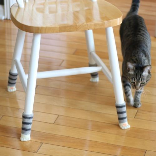 Chair Socks with Cute Cat Paw Design