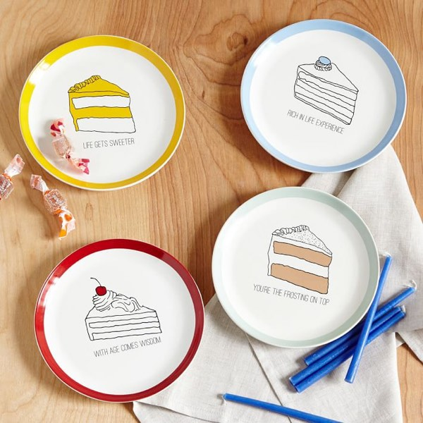 Fishs Eddy Birthday Cake Plates