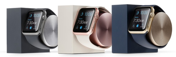 Native Union Dock For Apple Watch In Midnight Blue Gold