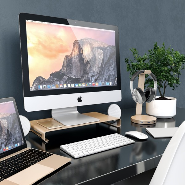 Satechi Aluminum High Quality Universal Aluminum Unibody Monitor _ Laptop _ iMac _ PC Stand