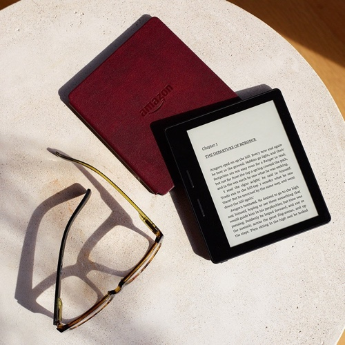 Kindle Oasis with Leather Charging Cover