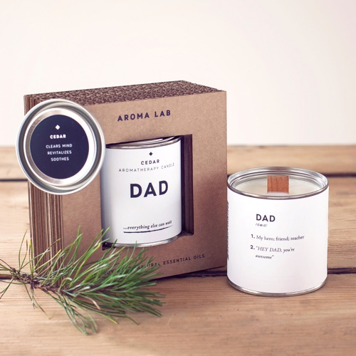 Cedar Candle for Dad