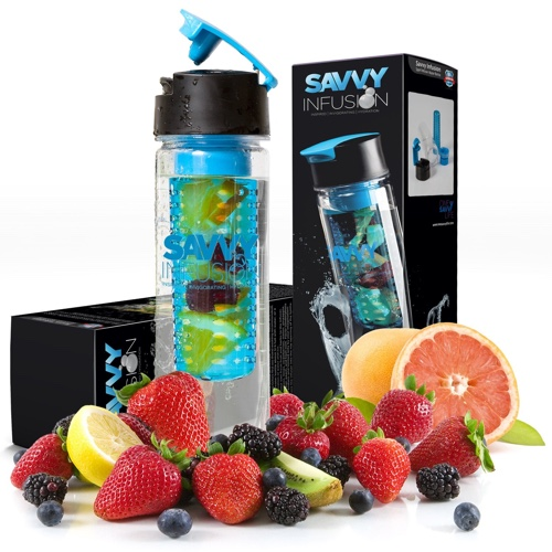 Savvy Infusion® - Flip-Top Sport Infuser Water Bottle
