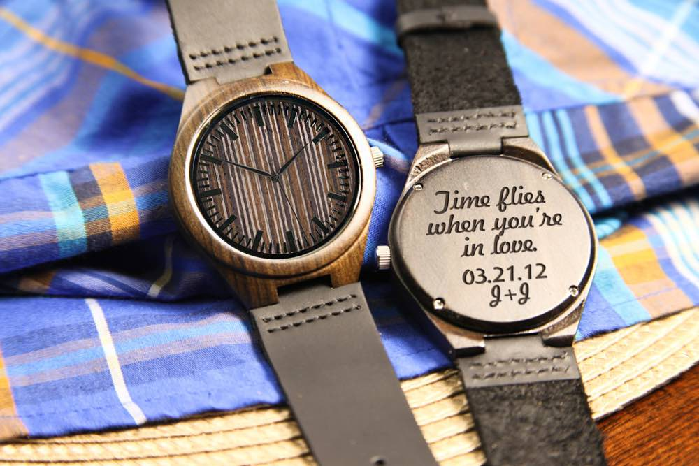 Personalized Wood Engraved Watch
