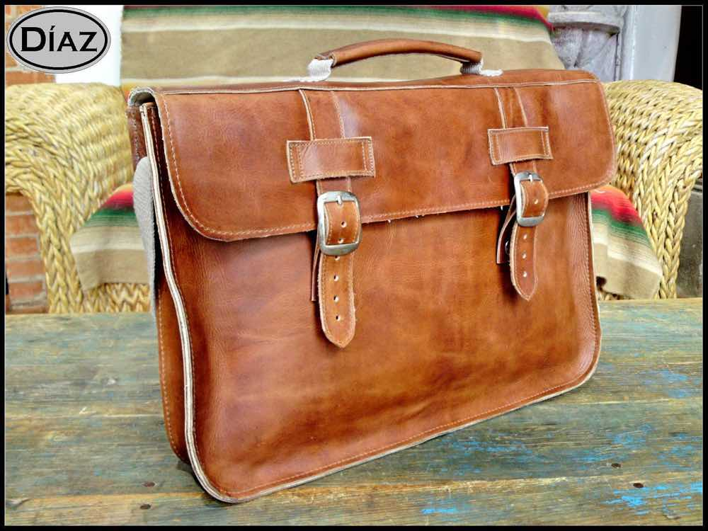 DIAZ Medium Leather Briefcase _ Laptop Bag
