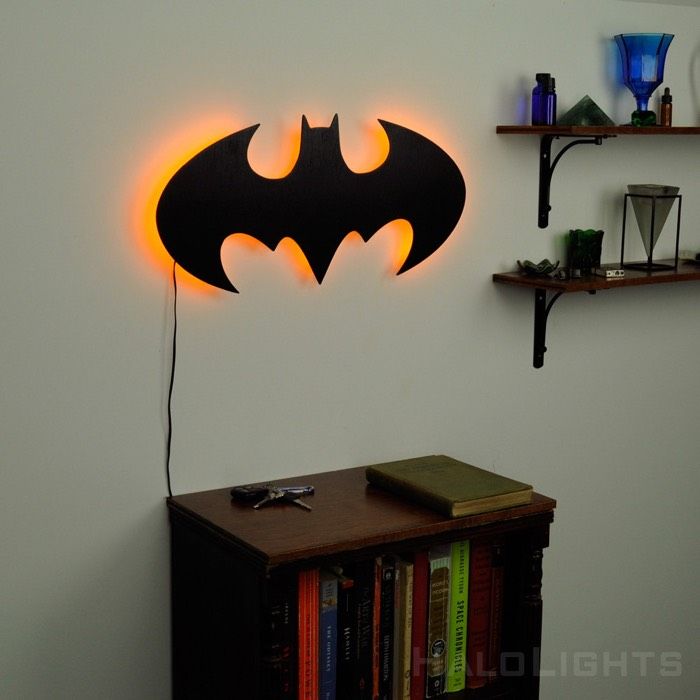 Illuminated Batman Sign