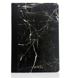 Leather Bounded Nero Marquina Marble Notebook