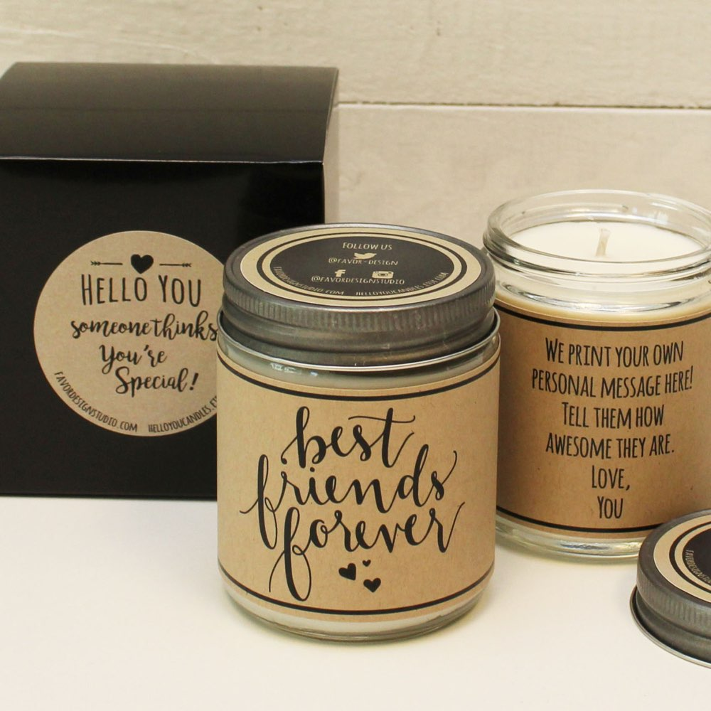 Best Friends Forever Scented Soy Candle Gift