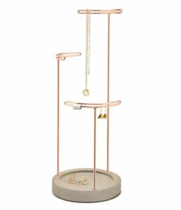 Tesora Jewelry Stand, Concrete_Copper
