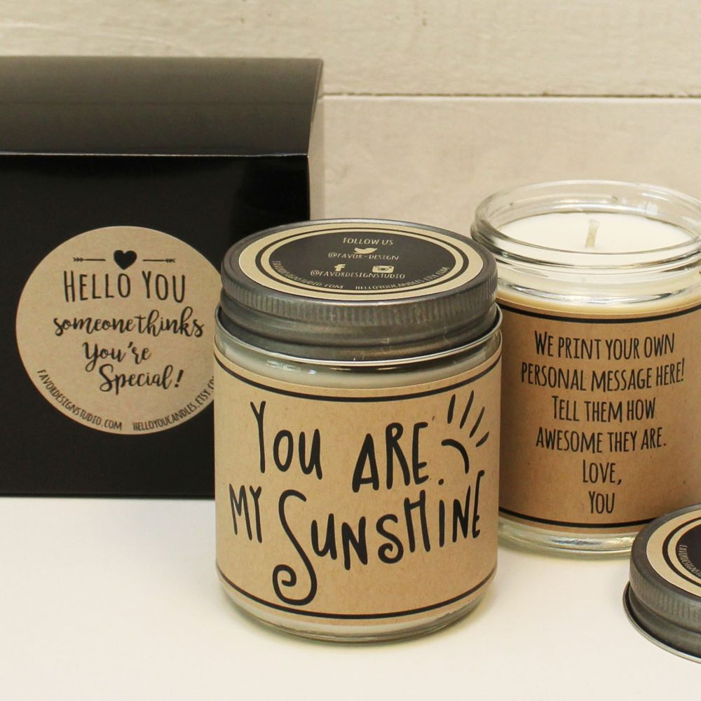 You are My Sunshine Soy Candle Gift