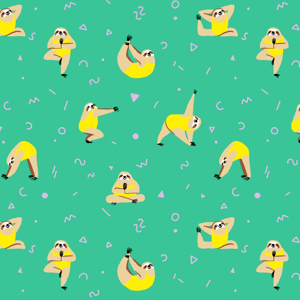 yoga-sloths-wrapping-paper_