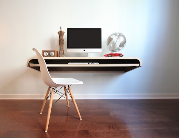 Minimal Float Wall Desk by Orange22