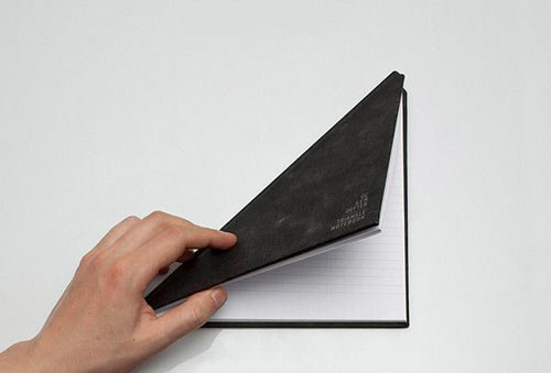 Triangle Notebook by Tan Mavitan