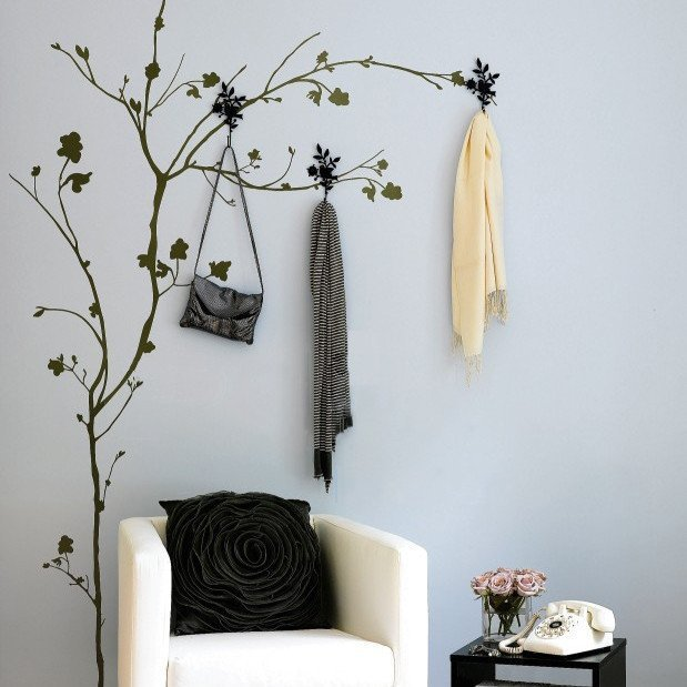 Tree W/ Hooks Wall Sticker