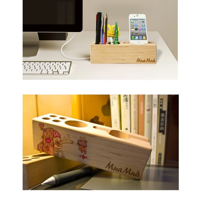 Wood Multifunctional Desktop Organizer