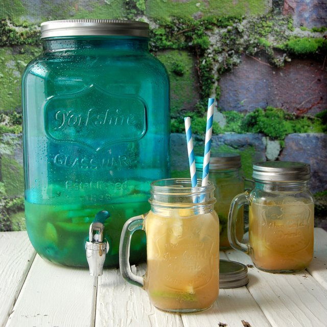 Aqua Twist Mason Jar Drink Dispenser