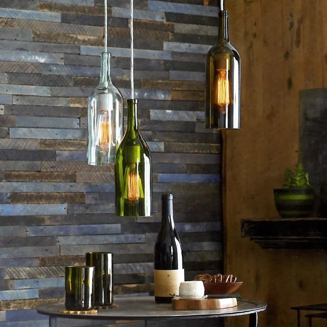 Claret Bottle Pendant Lamps