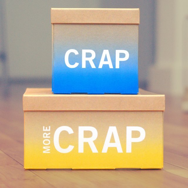Crap Storage Boxes by Knock Knock