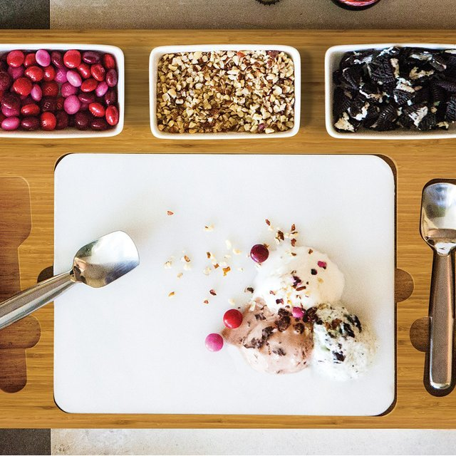 Marble Slab Ice Cream Mixing Set