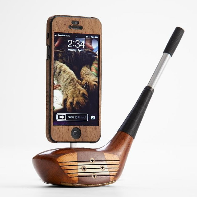 Wood Golf Club iPhone 5 Dock