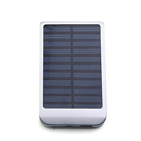 Portable USB Solar Panel Charger External Battery for iPhone 4/3G/3GS/, iPad, Other Smartphone and More (Silver)