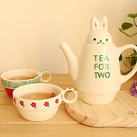 Novelty Rabbit Shape Teapot Set, Porcelain 8