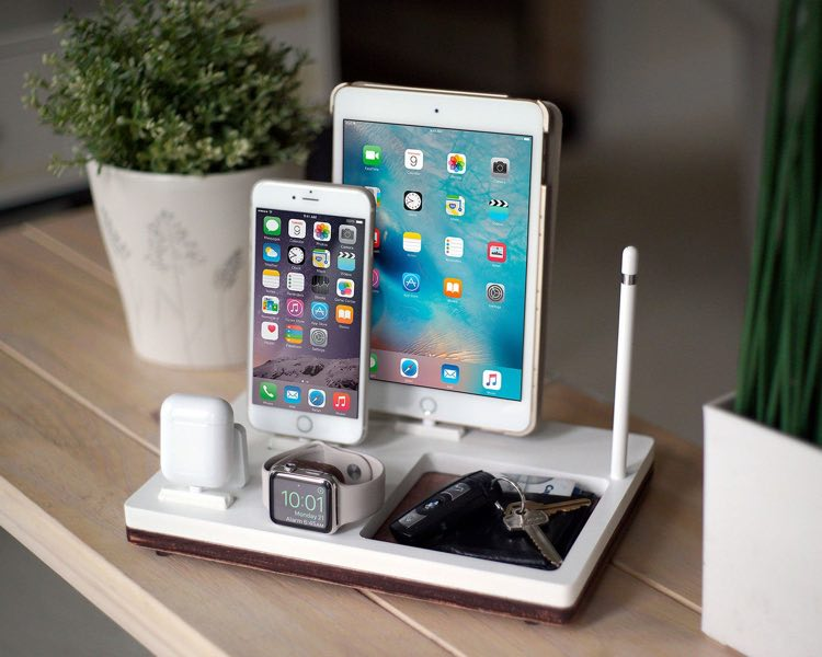 NytStnd QUAD Charging Station for iPhone, iPad, AirPods, Apple Watch and Apple Pencil
